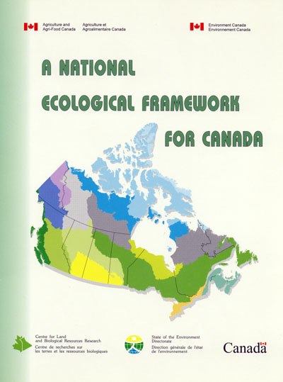 Map Of Canada Ecozones.A National Ecological Framework For Canada