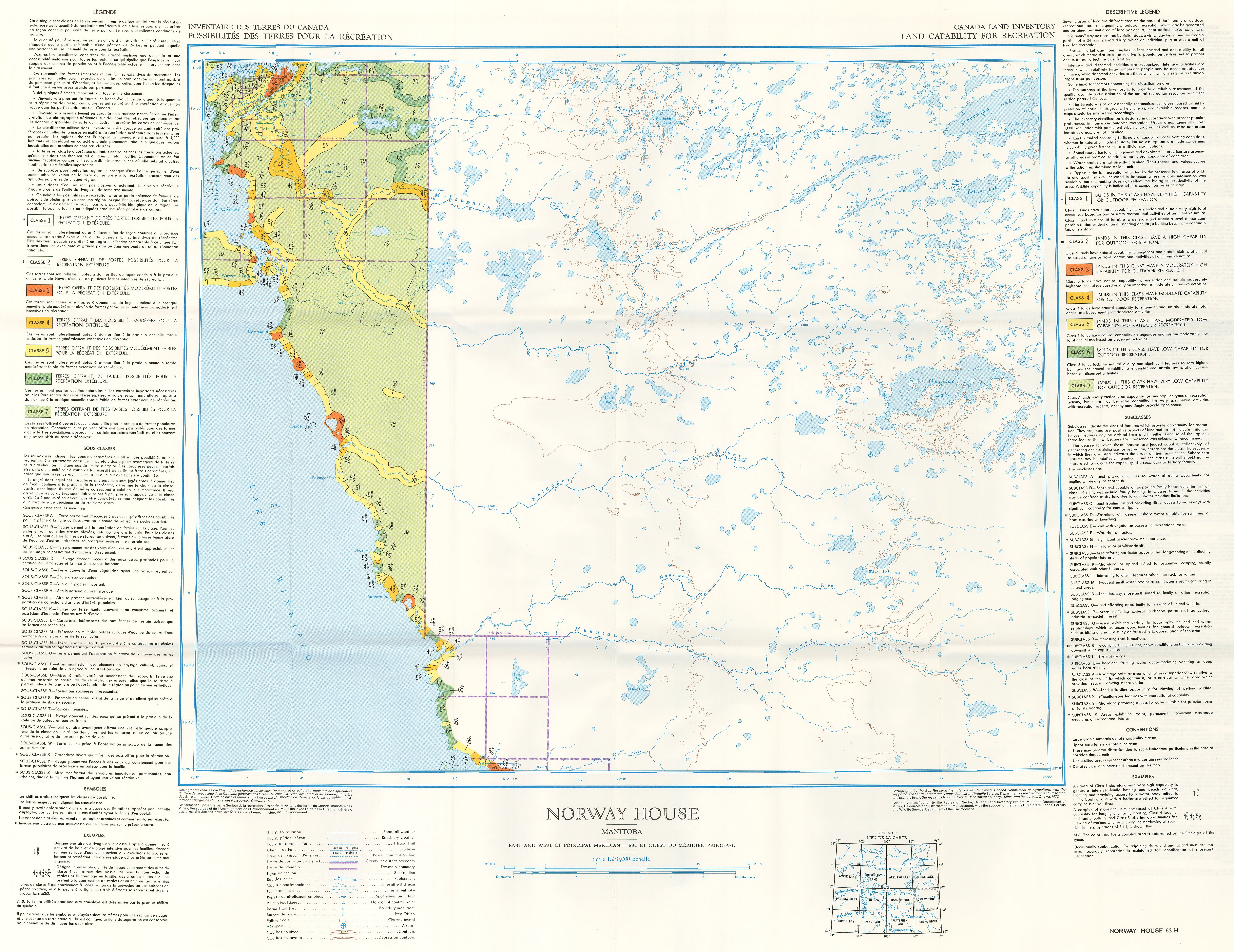 Land Capability For Recreation - Norway house map