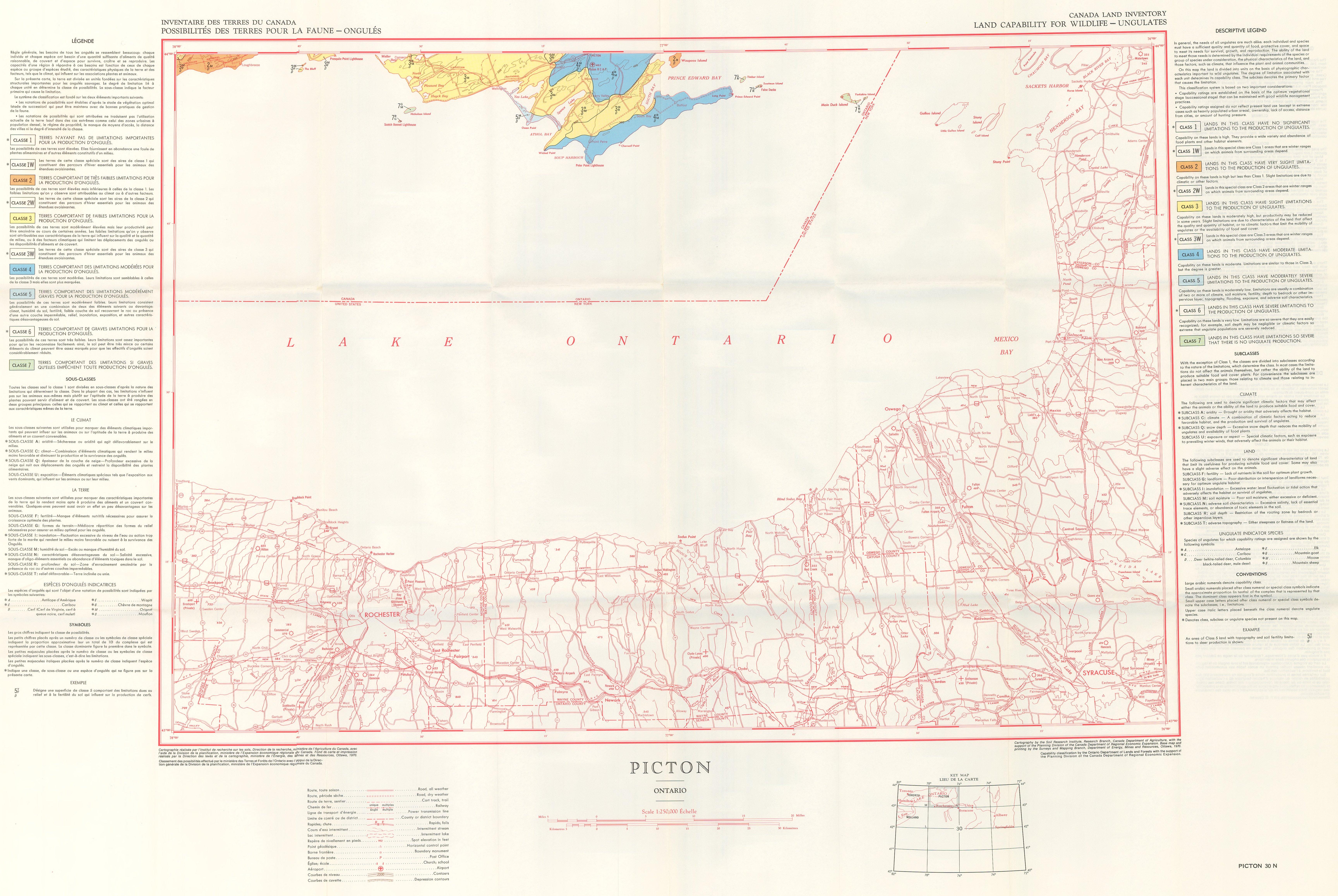 Carte Canada Avec Ville.Possibilitees Des Terres Pour La Faune Ongules