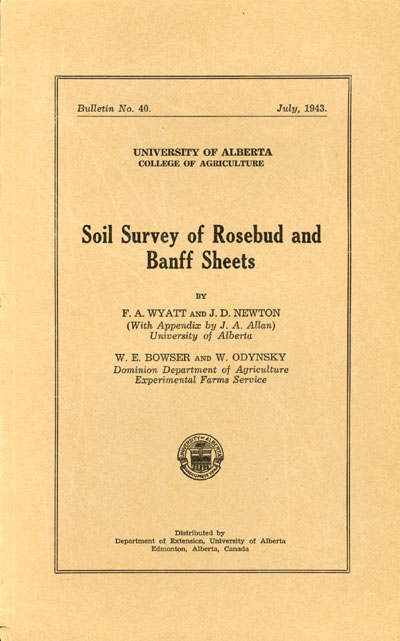View the Soil Survey of Rosebud and Banff Sheets (PDF Format)