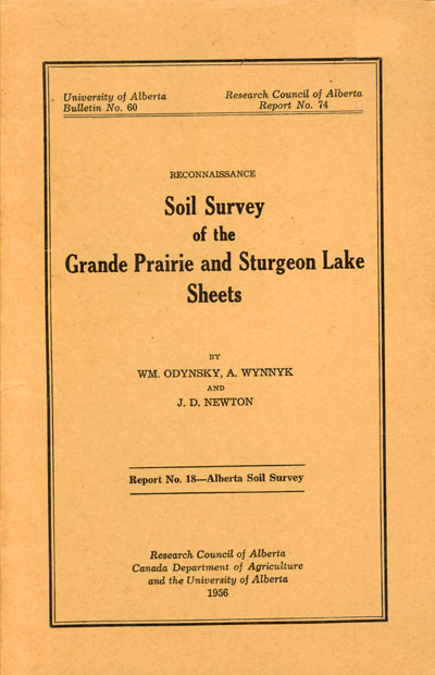 View the Soil Survey of the Grande Prairie and Sturgeon Lake Sheets (PDF Format)