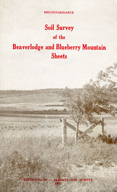 View the Soil Survey of the Beaverlodge and Blueberry Mountain Sheets (PDF Format)