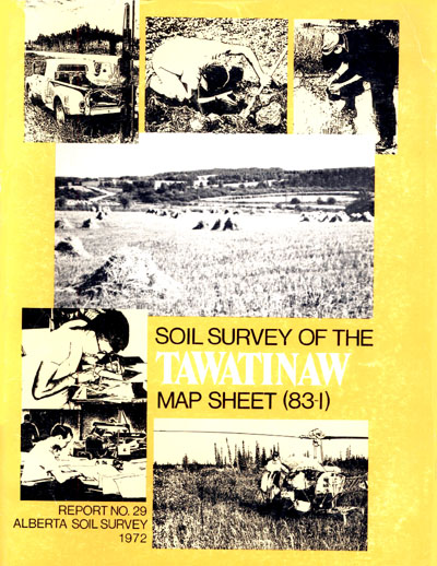 View the Soil Survey of the Tawatinaw Map Sheet (83-I) (PDF Format)
