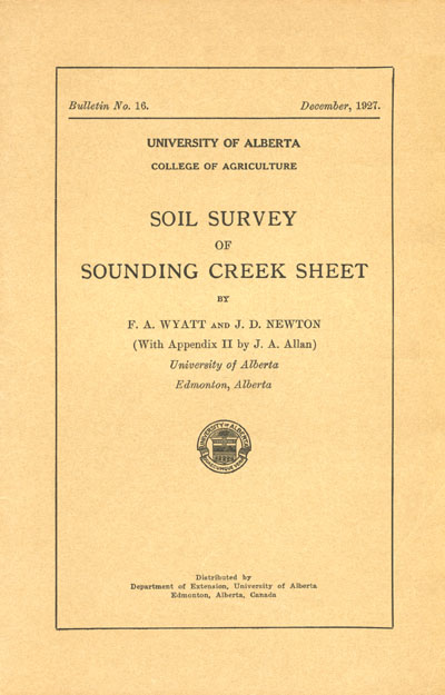 View the Soil Survey of Sounding Creek Sheet (PDF Format)