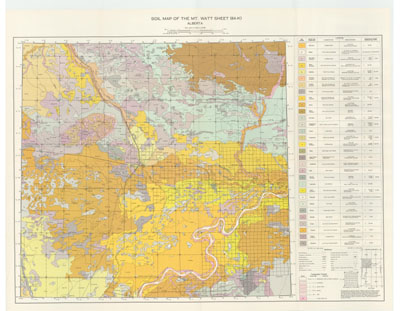 View the map:  MAP SOIL Mt Watt (JPG Format)
