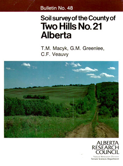 View the Soil Survey of the County of Two Hills No. 21, Alberta (PDF Format)