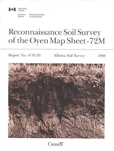 View the Reconnaissance Soil Survey of the Oyen Map Sheet - 72M (PDF Format)