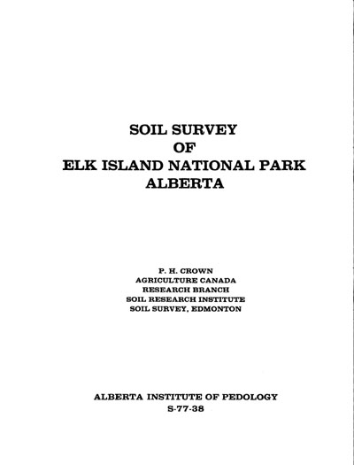 View the Soil Survey of Elk Island National Park Alberta (PDF Format)