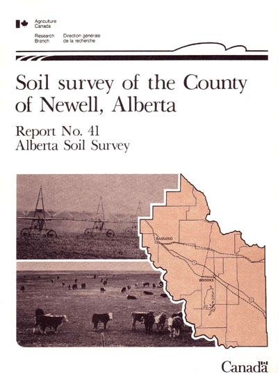 View the Soil Survey of the County of Newell, Alberta (PDF Format)