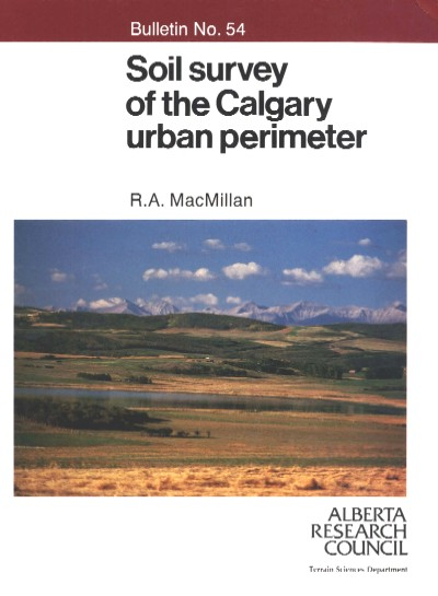 View the Soil Survey of the Calgary Urban Perimeter (PDF Format)