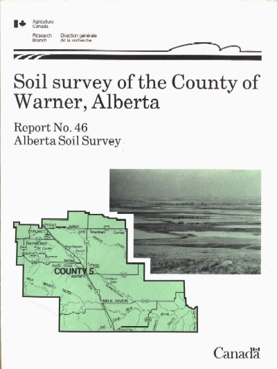 View the Soil Survey of the County of Warner, Alberta (PDF Format)