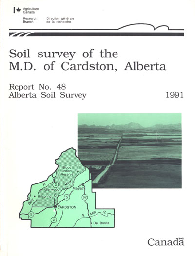 View the Soil Survey of the M.D. of Cardston, Alberta (PDF Format)