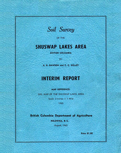 View the Soil Survey of the Shuswap Lakes Area (PDF Format)