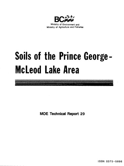 View the Soils of the Prince George-McLeod Lake Area (PDF Format)