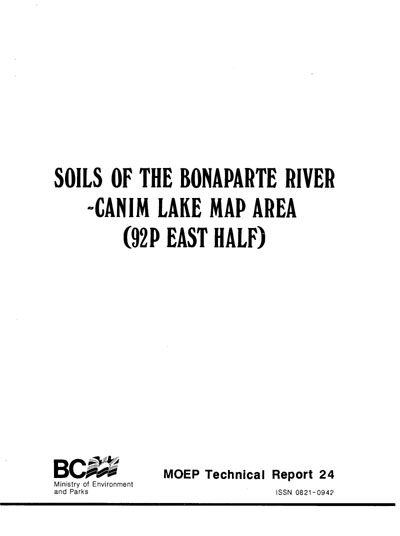 View the Soils of the Bonaparte River-Canim Lake Map Area (PDF Format)