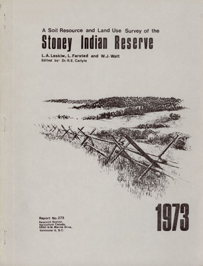 View the A Soil Resource and Land Use Survey of the Stoney Indian Reserve (PDF Format)