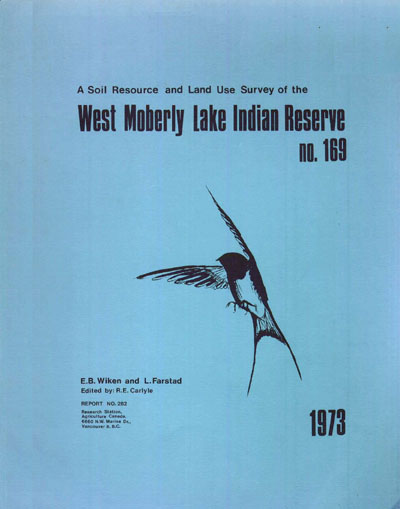 View the A Soil Resource and Land Use Survey of the West Moberly Lake Indian Reserve (PDF Format)