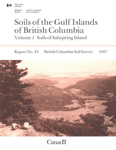 View the Soils of the Gulf Islands of British Columbia - Volume 1 - Soils of Saltspring Island (PDF Format)