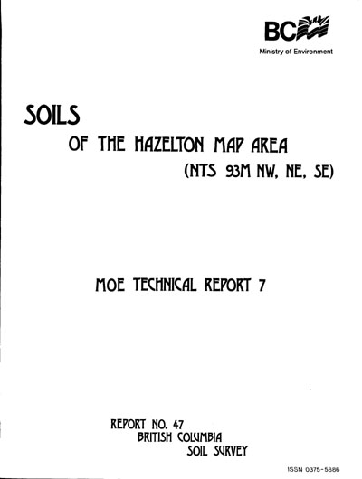 View the Soils of the Hazelton Map Area (PDF Format)