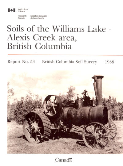View the Soils of the Williams Lake - Alexis Creek Area, British Columbia (PDF Format)
