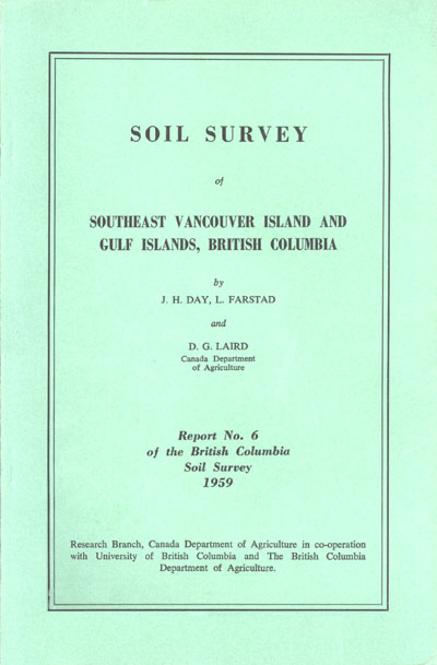 View the Soil Survey of Southeast Vancouver Island and Gulf Islands, British Columbia (PDF Format)