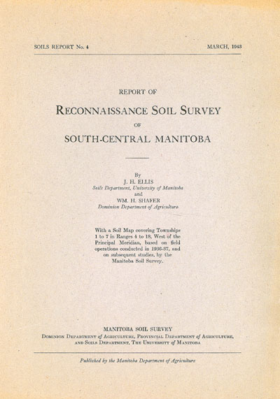 View the Reconnaissance Soil Survey of South-Central Manitoba (PDF Format)