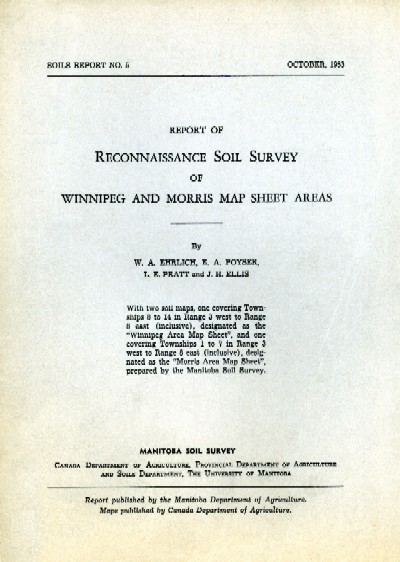 View the Reconnaissance Soil Survey of Winnipeg and Morris Map Sheet Areas (PDF Format)