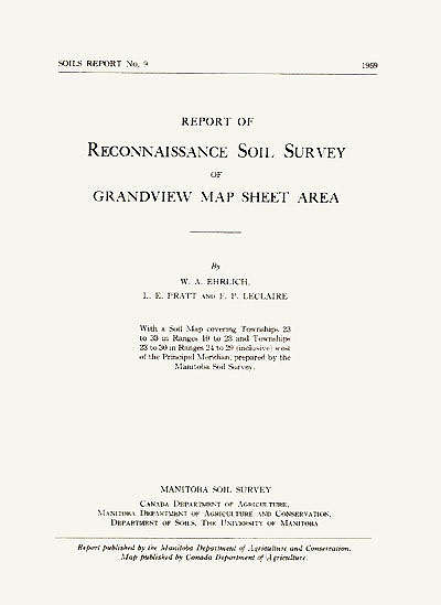 View the Reconnaissance Soil Survey of Grandview Map Sheet Area (PDF Format)