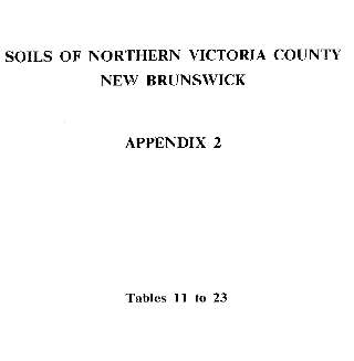 View the Soils of Northern Victoria County (PDF Format)