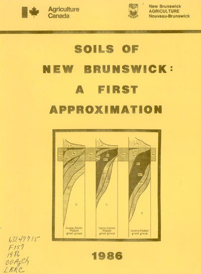 View the Soils of New Brunswick: A First Approximation (PDF Format)