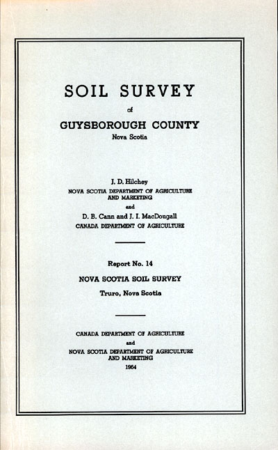 View the Soil Survey of Guysborough County (PDF Format)