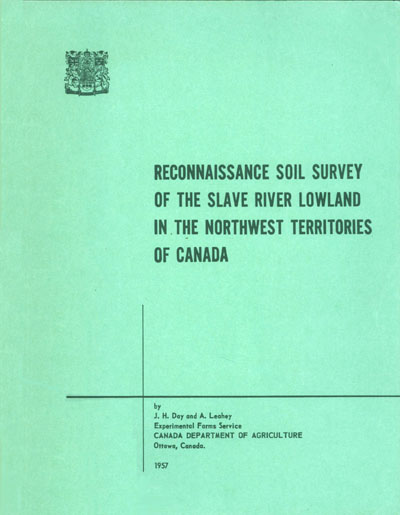 View the Reconnaissance Soil Survey of the Slave River Lowland in the Northwest Territories of Canada (PDF Format)
