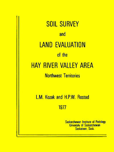 View the Soil Survey and Land Evaluation of the Hay River Valley Area (PDF Format)