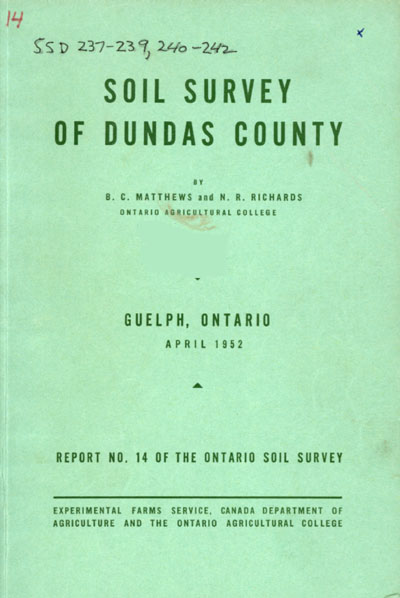 View the Soil Survey of Dundas County (PDF Format)