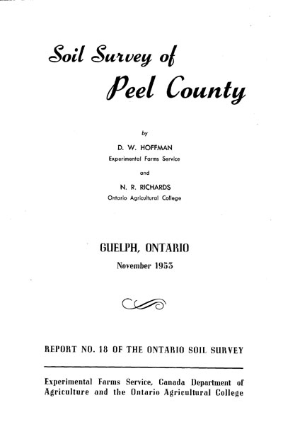 View the Soil Survey of Peel County (PDF Format)