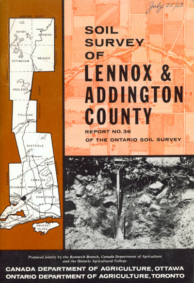 View the Soil Survey of Lennox and Addington County (PDF Format)