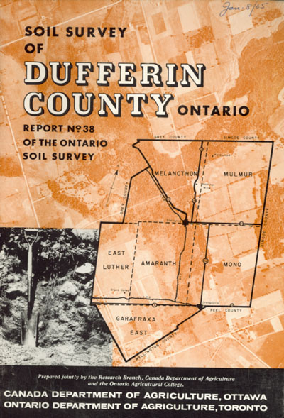 View the Soils Survey of Dufferin County (PDF Format)