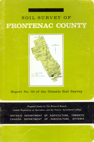 View the Soil Survey of Frontenac County (PDF Format)