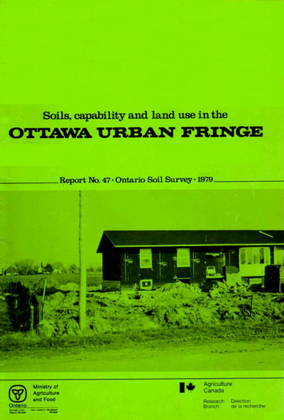 View the Soils, Capability and Land Use in the Ottawa Urban Fringe (PDF Format)