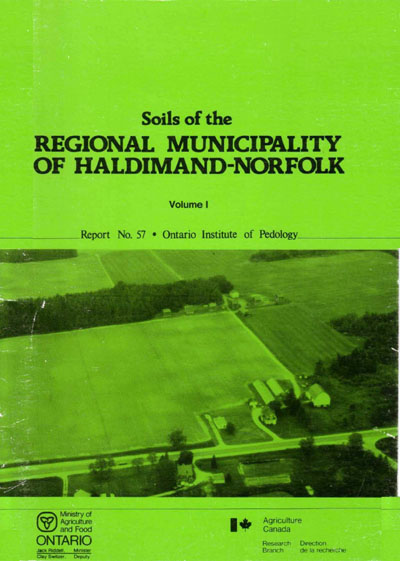 View the Soils of the Regional Municipality of Haldimand-Norfolk (Volume 1 and 2) (PDF Format)