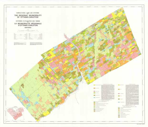 Agricultural Land Use Systems of the Regional Municipality of Ottawa