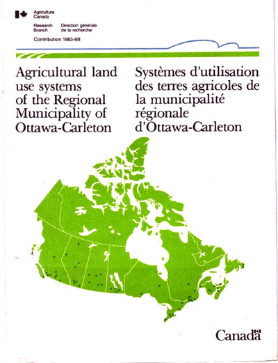 View the Agricultural Land Use Systems of the Regional Municipality of Ottawa-Carleton (PDF Format)
