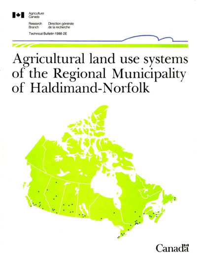 View the Agricultural Land Use Systems of the Regional Municipality of Haldimand-Norfolk (PDF Format)