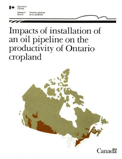 View the Impacts of Installation of an Oil Pipeline on the Productivity of Ontario Cropland (PDF Format)