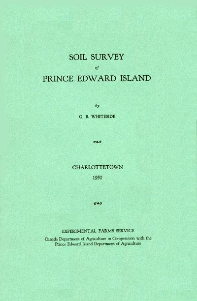 soil survey of prince edward island