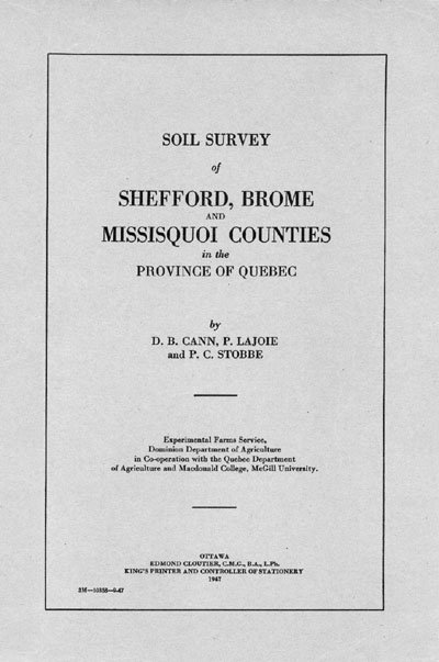 View the Soil Survey of Shefford, Brome and Missisquoi Counties (PDF Format)