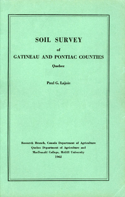View the Soil Survey of Gatineau and Pontiac Counties (PDF Format)