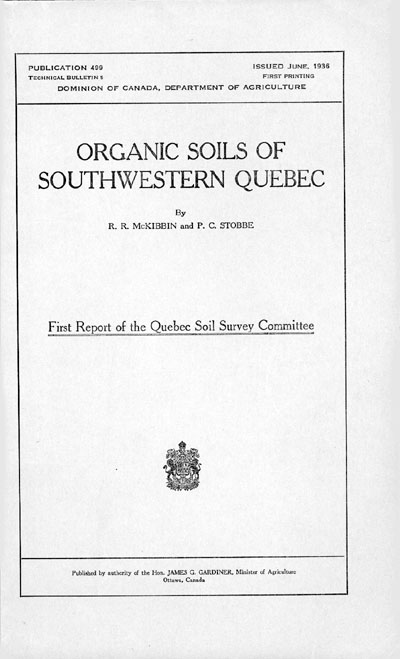 View the Organic Soils of Southwestern Quebec (PDF Format)