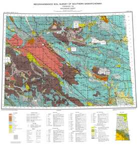 Soil Survey Of Southern Saskatchewan From Township To Inclusive - Map of saskatchewan