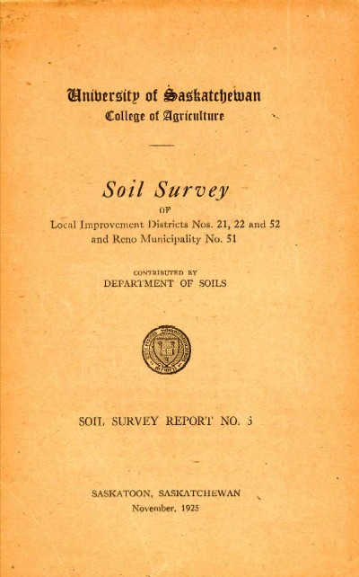 View the Soil Survey of Local Improvement Districts Nos.21, 22 and 52 and Reno Municipality No.51 (PDF Format)